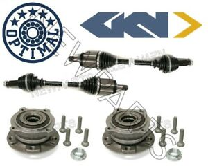 For Bmw E70 F15 X5 X6 Set Of Front Left Right Axle Shaft Wheel Hubs Bearings