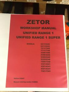 Zetor Workshop Repair Manual 5211 7745 948850