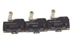 Lot Of 3 Honeywell Microswitch Bz 2rw826 a2 Lever Switch Roller Bz2rw826a2