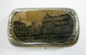 Imperial Russia Russian Silver Niello Cigarette Case Marked 84 Konstantinov See