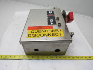 Ge Thn3361ss Model 12 30a 600 250v Ac dc Max Stainless Steel Fused Disconnect
