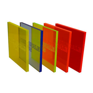 Fluorescent Plastic Perspex Acrylic Sheet Blue Orange Yellow Green Red Live Edge