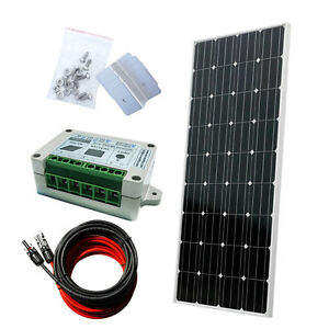 Eco 160w Complete Kit 160 W Photovoltaic Pv 150w Panel 12v Rv Boat For Off Grid