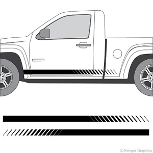 Chevy Colorado Gmc Canyon Faded Rocker Panel Racing Stripes 3m Vinyl Decal Kit