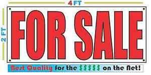 2x4 For Sale Banner Sign New Discount Size Best Quality For The