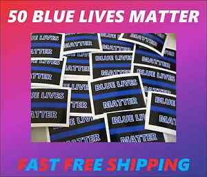 50 Thin Blue Line Blue Lives Matter Wholesale Bumper Stickers Police Support