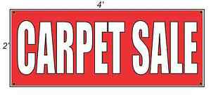 2x4 Carpet Sale Red With White Copy Banner Sign