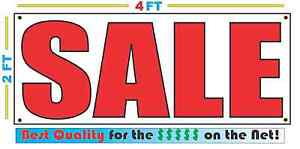 2x4 Sale Banner Sign New Discount Size Best Quality For The