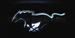 Led Glow Light Up White Emblem Decal Logo Back Plate Front Grill Bumper Fascia