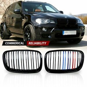 For 2007 2013 Bmw X5 X6 E70 E71 Glossy Black M color Front Grille Grill Kidney