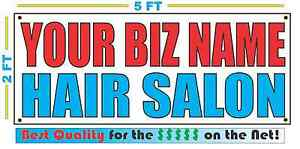 Custom Name Hair Salon Banner Sign New 2x5 Color Hi light Perm Cut