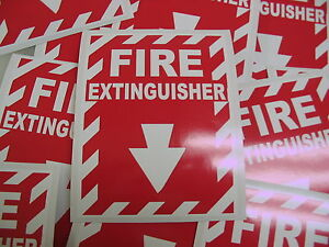 5 Fire Extinguisher Sticker Decals For Fire Inspection Or Hose Alarm Smoke Fdc