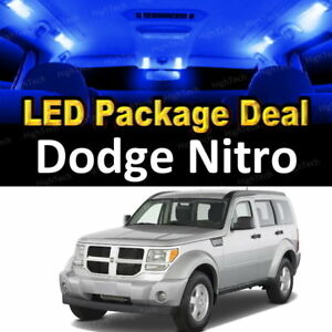 8x Blue Led Lights Interior Package Deal For 2008 2009 2010 2011 Dodge Nitro