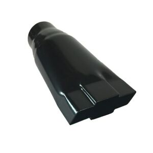 Exhaust Tip 4 75 Outlet 9 00 Long 2 50 Inlet Chevy Black Bowtie Stainless Wes