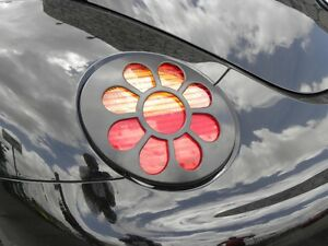 98 05 Vw Volkswagen Beetle Daisy Flower Tail Light Paintable Black 2pc Covers