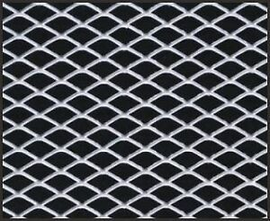 12 X 48 Car Truck Universal Aluminum Grill Grille Diamond Mesh Section Silver