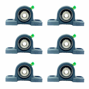 6x Ucp201 8 1 2 Pillow Block Bearing Ucp201 08