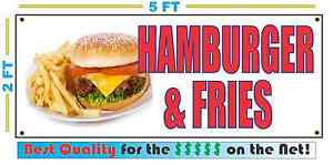 Hamburger Fries Fc Banner Sign New Xxl Size Best Quality For The