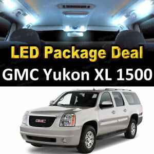 18x White Led Lights Interior Package Deal For 2001 2006 Gmc Yukon Xl 1500