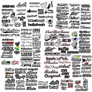 Jdm Huge Mega 110 Car Sticker Decal Pack Lot Tuner Race Drift cpaks