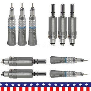 5 Sets Dental Slow Low Speed Straight Handpiece e type Air Motor 4 Hole Fit Nsk