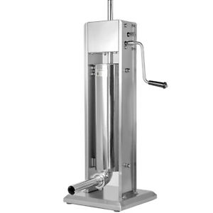 7l 20lbs Industrial Vertical Sausage Stuffer Stainless Steel Meat Maker Filler