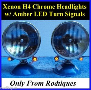 Xenon Headlights W Led Turn Signals Hot Rod Rat Rod Streetrod Antique Car Truck