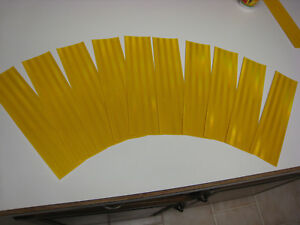 Yellow Reflective Conspicuity Tape 3 X 12 Lot 10 Pc