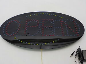 Displays2go Ledopen61 Animated Oval Led Sign Reads open closed
