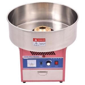 Professional Pink Electric Cotton Candy Floss Machine Maker Party Supplies Favor