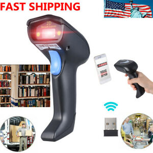 2 4g Wireless Usb 1d 2d Qr Barcode Scanner Scanning Pos Bar Code Reader Black