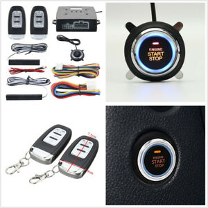 12v 9 Pcs Car Pke Alarm System Passive Keyless Entry Engine Starter Push Button