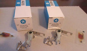 Mopar Pair Max wedge Ignition Points 1962 1963 1964 1965 2808870 2421849 Nos