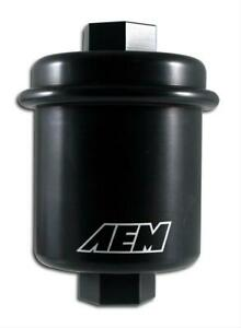 Aem 25 200bk High Volume Inline Performance Fuel Filter For Acura