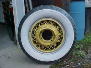 1930 S Chrysler 7 Lug Wire Wheel And Tire 7 00 X 17