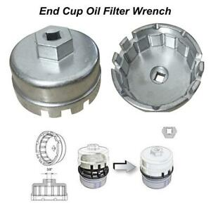 For Toyota Lexus Scion 4 Cylinder Oil Filter Aluminum Cup Wrench Housing Cap Zh