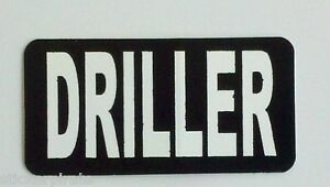 3 Driller Rig Roughneck Hard Hat Oilfield Oil Field Tool Box Helmet Sticker