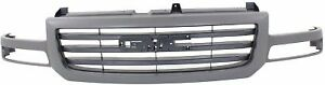 Cpp Gray Shell W Black Insert Grille Assembly For 2003 2004 Gmc Sierra