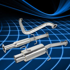 4 muffler Tip Ss Catback Exhaust System For 92 96 Honda Prelude Bb H23a1 F22a1