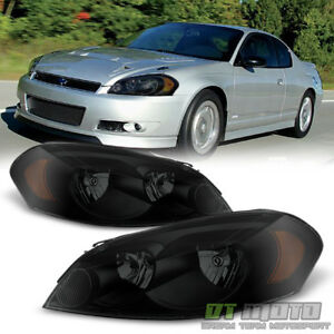 Black Smoke Headlamps Replacement 2006 2013 Chevy Impala Headlights Left right
