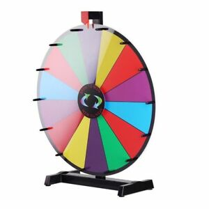 18 Table Top Dry Erase Spin Game Trade Show Prize Wheel Of Fortune Party 14slot