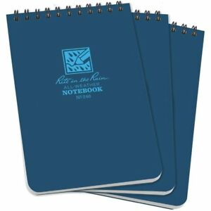 Rite In The Rain All weather Top spiral Notebook 4 X 6 Blue Cover Universal