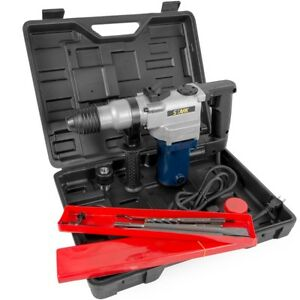 1 1 2 Hp Sds Electric Rotary Hammer Drill Plus Demolition W bits Variable Speed