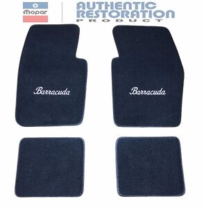 Floor Mats 80 20 Loop Cater 1964 74 Plymouth Barracuda Embroidered Mopar