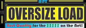Oversize Load 2 1x5 Banners Sign Towing Truck Trailer 2x Lot
