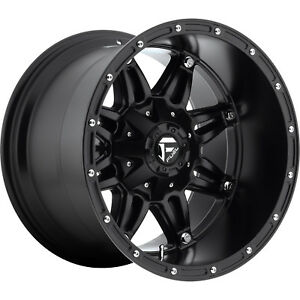 18x12 Black Fuel Hostage Wheels 8x6 5 44 Lifted Hummer H2