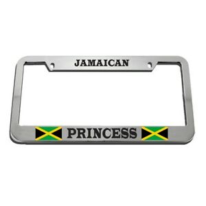 Jamaican Princess License Plate Frame Tag Holder