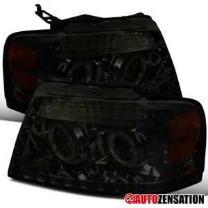 For 2006 2008 F150 Lincoln Mark Lt Smoke Led Strip Halo Projector Headlights