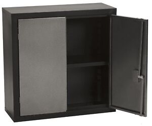 Edsal Wcs123131 Textured Silver And Black Steel Wall Cabinet 1 Adjustable 30 X