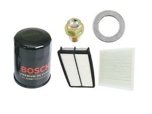 For Acura Mdx 07 09 Bosch Tune Up Kit Air Filter Cabin Engine Oil Plug Gasket